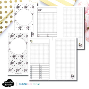 PERSONAL RINGS Size | Undated Day on 2 Page or Project Bubba Bear Studios Collaboration Printable Insert ©