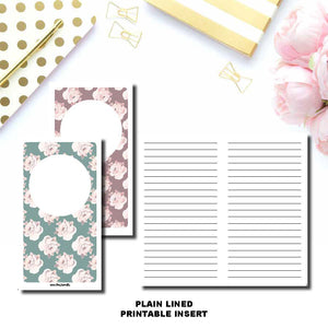 A6 TN Size | PLAIN LINED Printable Travelers Notebook Insert ©