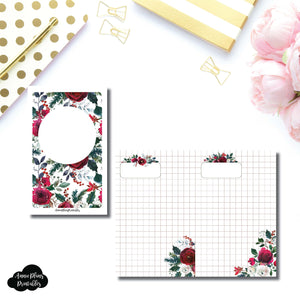 Pocket TN Size | Holiday Floral Grid Printable Insert ©