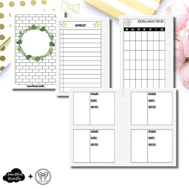 Pocket Rings Size | Plant Care - Fox & Pip Collaboration Printable Insert ©