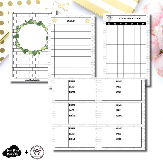 Pocket TN Size | Plant Care - Fox & Pip Collaboration Printable Insert ©