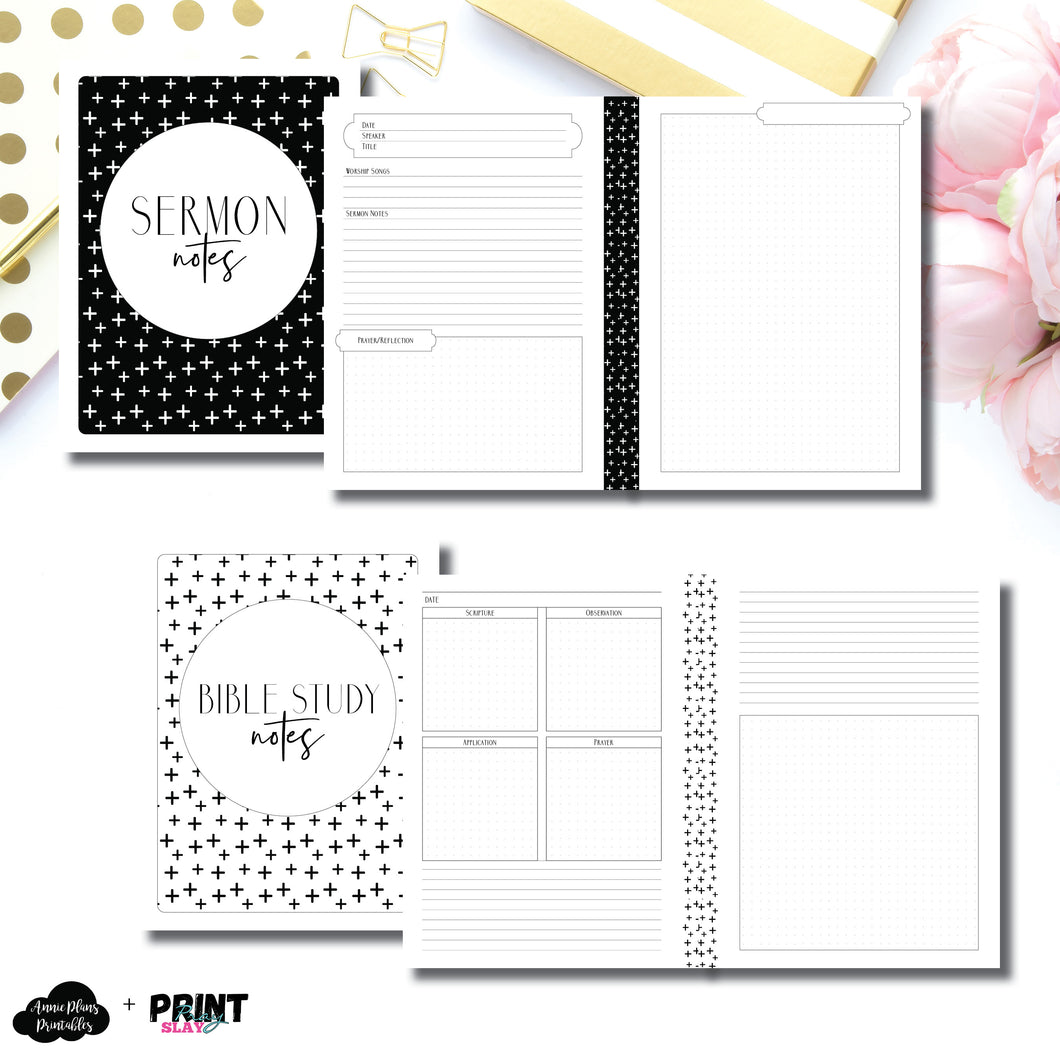 A6 Rings Size | Print Pray Slay Collaboration Faith Bundle Printable Insert
