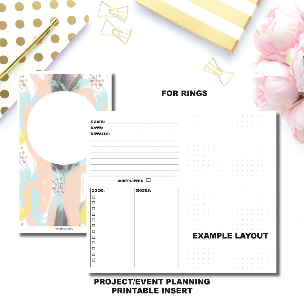 Personal Wide Rings Size | Event/Project Planning Printable Insert ©