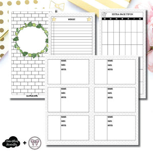 Standard TN Size | Plant Care - Fox & Pip Collaboration Printable Insert ©