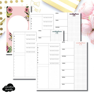 Standard TN Size | Undated Week on 2 Page Layout Printable Insert ©