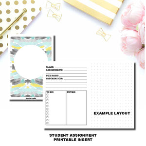 Personal TN Size | Student Assignment Printable Insert ©