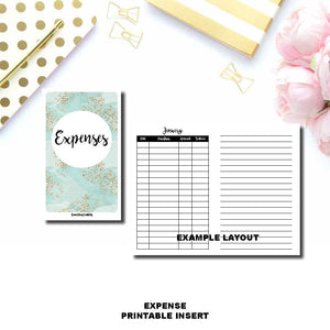 STANDARD TN Size | Monthly Expense Tracker Printable Insert ©