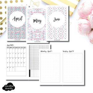 Pocket TN Size | 2019 APR - JUN | FULL Month Daily DOT GRID | Printable Insert ©