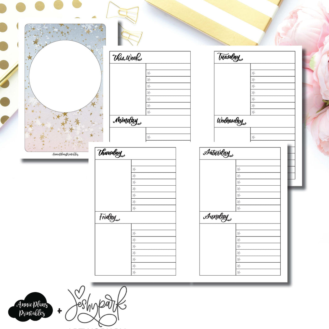 A6 Rings Size | JeshyPark Undated Weekly Collaboration Printable Insert ©