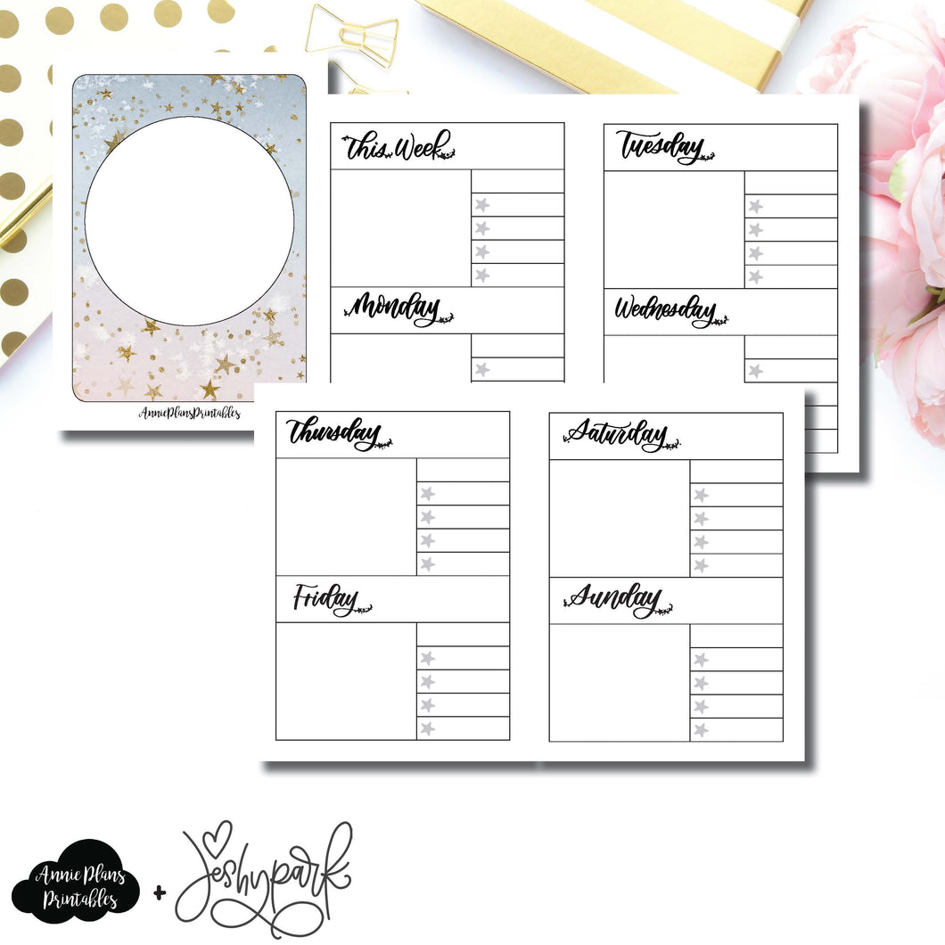 Micro TN Size | JeshyPark Undated Weekly Collaboration Printable Insert ©