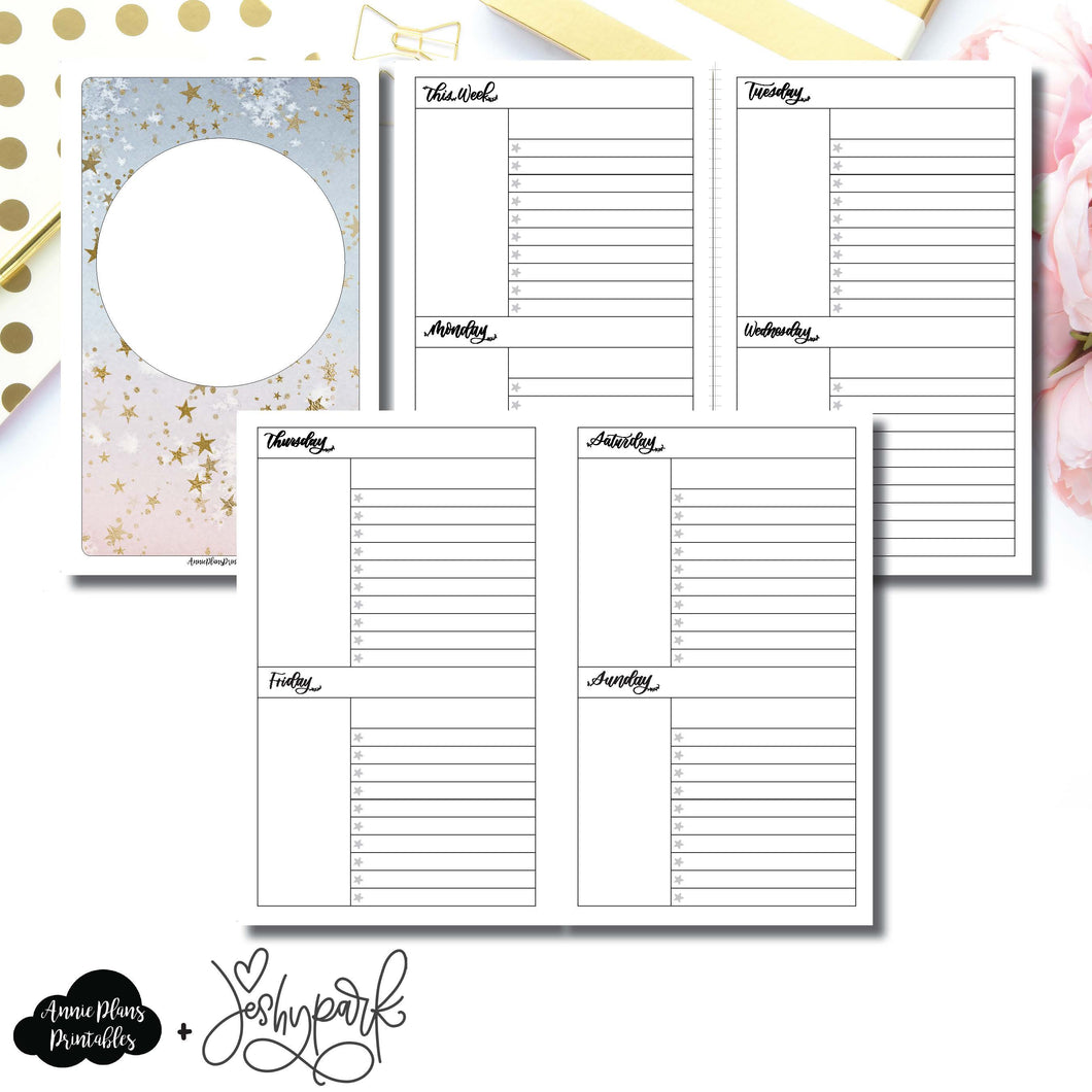 Half Letter Rings Size | JeshyPark Undated Weekly Collaboration Printable Insert ©