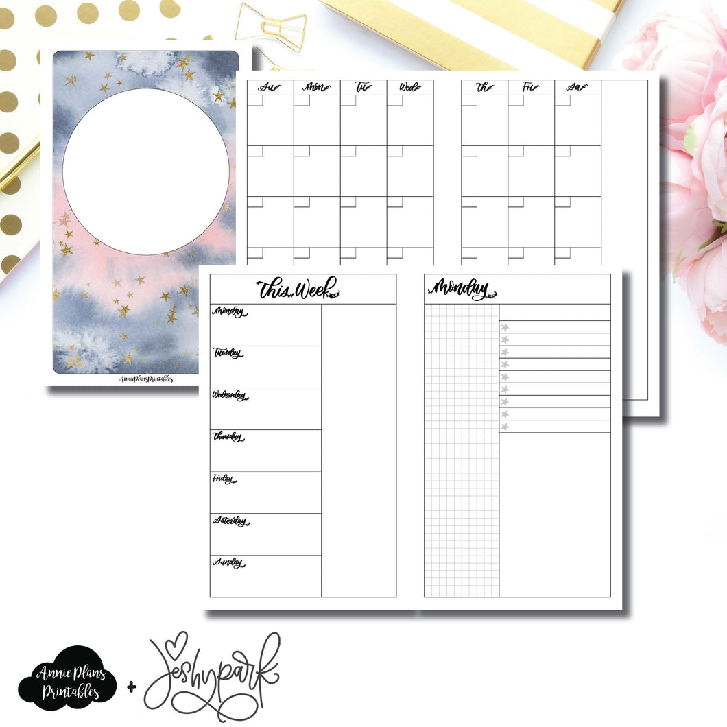 Mini HP Size | JeshyPark Undated Daily Collaboration Printable Insert ©
