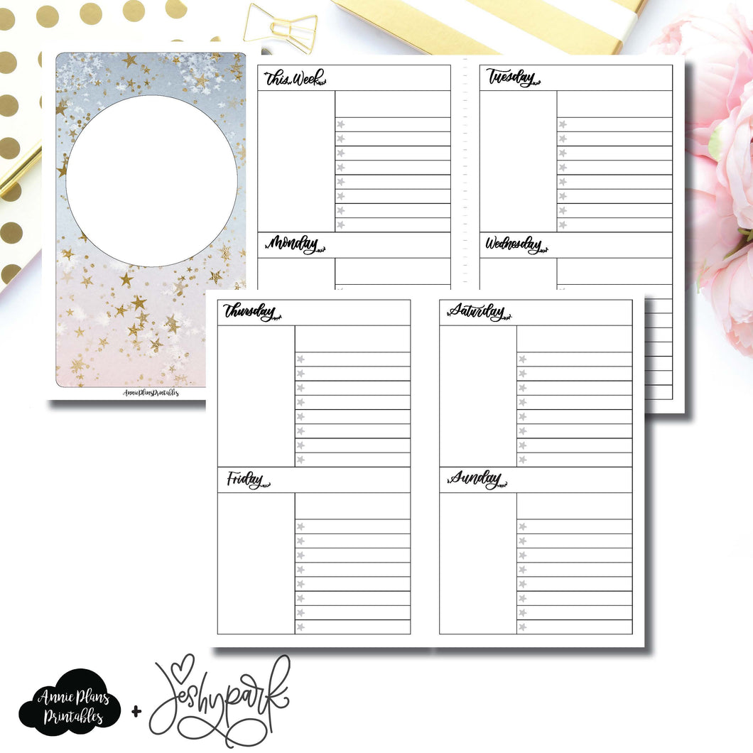B6 Slim TN Size | JeshyPark Undated Weekly Collaboration Printable Insert ©