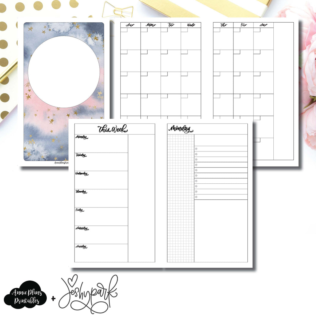 Cahier TN Size | JeshyPark Undated Daily Collaboration Printable Insert ©