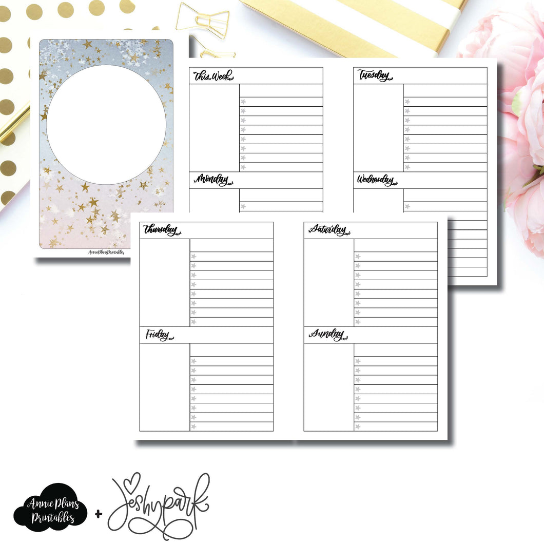 Personal Wide Rings Size | JeshyPark Undated Weekly Collaboration Printable Insert ©