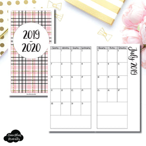 Standard TN Size | 2019 - 2020 Academic Monthly Calendar (SUNDAY Start) PRINTABLE INSERT ©