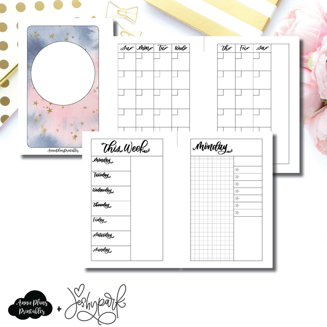 Pocket Rings Size | JeshyPark Undated Daily Collaboration Printable Insert ©