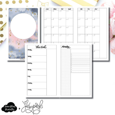 Half Letter Rings Size | JeshyPark Undated Daily Collaboration Printable Insert ©