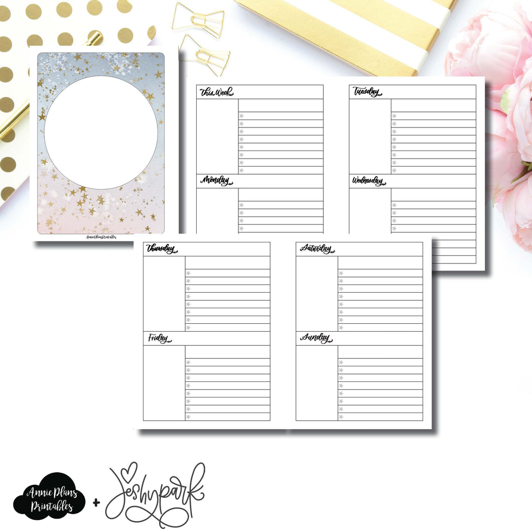 B6 Rings Size | JeshyPark Undated Weekly Collaboration Printable Insert ©