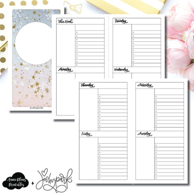 Standard TN Size | JeshyPark Undated Weekly Collaboration Printable Insert ©