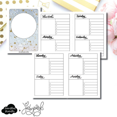 Passport TN Size | JeshyPark Undated Weekly Collaboration Printable Insert ©
