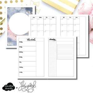 A5 Rings Size | JeshyPark Undated Daily Collaboration Printable Insert ©