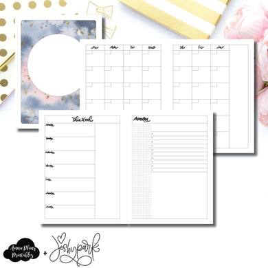 Classic HP Size | JeshyPark Undated Daily Collaboration Printable Insert ©