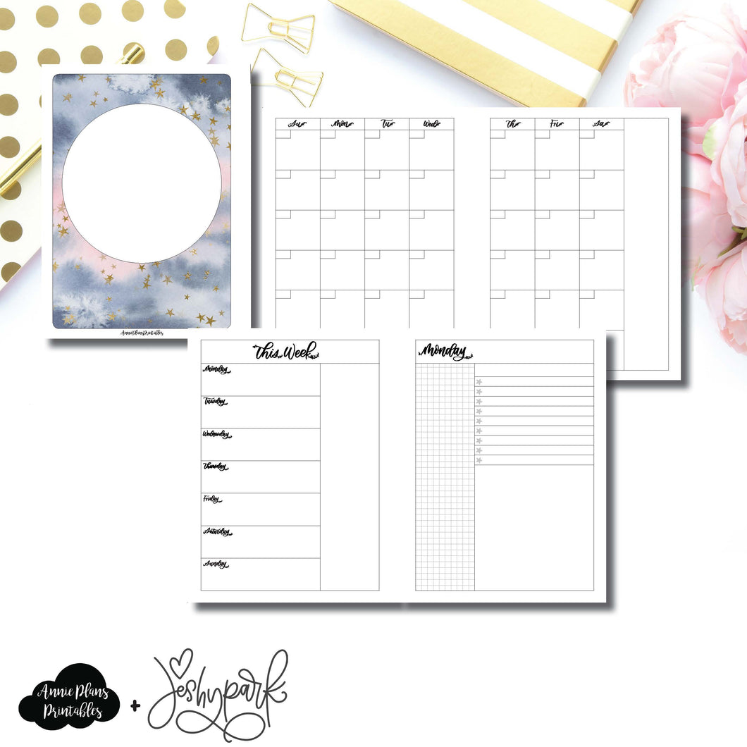B6 Rings Size | JeshyPark Undated Daily Collaboration Printable Insert ©