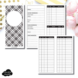 H Weeks Size | KIDS Information Printable Insert ©