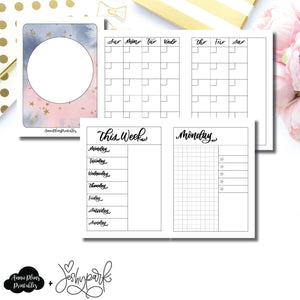 Micro TN Size | JeshyPark Undated Daily Collaboration Printable Insert ©