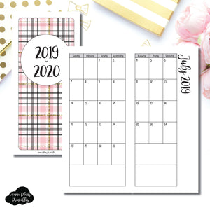 H Weeks Size | 2019 - 2020 Academic Monthly Calendar (SUNDAY Start) PRINTABLE INSERT ©