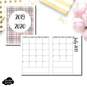 Classic HP Size | 2019 - 2020 Academic Monthly Calendar (SUNDAY Start) PRINTABLE INSERT ©