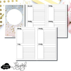 Cahier TN Size | JeshyPark Undated Weekly Collaboration Printable Insert ©