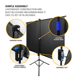 "KODAK Projection Screen 100"" with Tripod Stand & Carrying Bag"