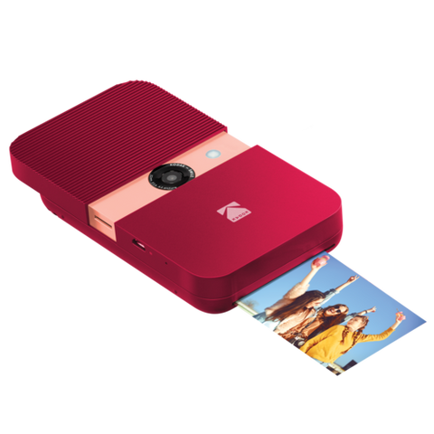 KODAK SMILE Instant Print Digital Camera - Red
