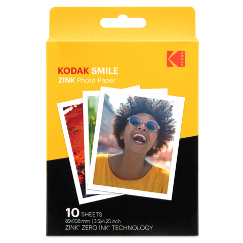 "KODAK SMILE 3.5""x 4.25"" ZINK Photo Paper"