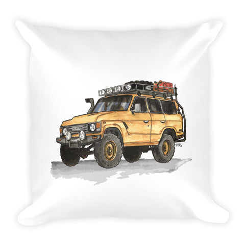 Land Cruiser (Color Print Pillow)