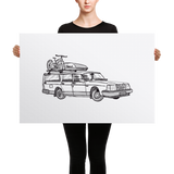 Volvo Wagon (Canvas Print)