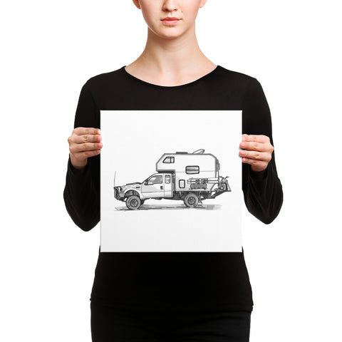 Bruce the Camper (Canvas Print)