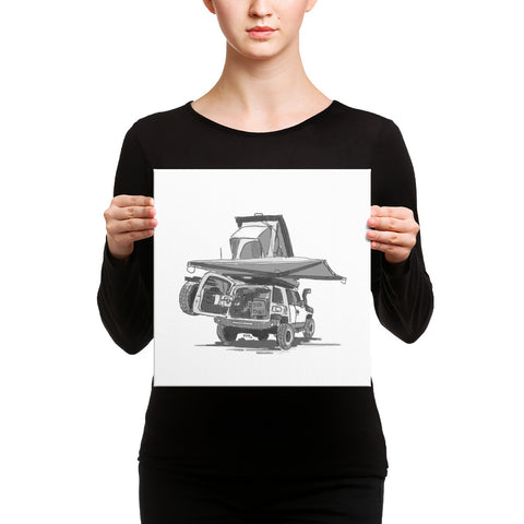 Toyota FJ Cruiser (Canvas Print)