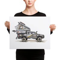 Mountain State Overland, Toyota Tacoma (Canvas print)