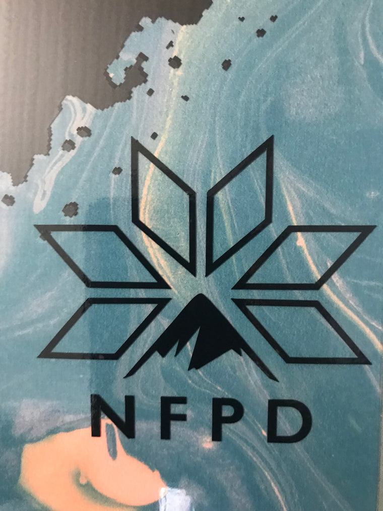 Vinyl Transfer Black NFPD Decals 85mm X 77mm