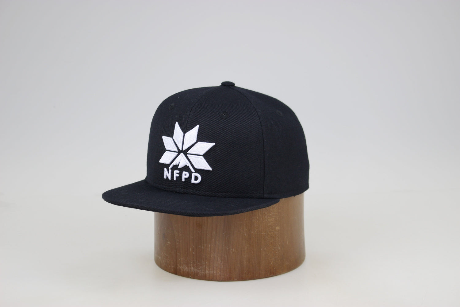 Black - High Snapback Cap
