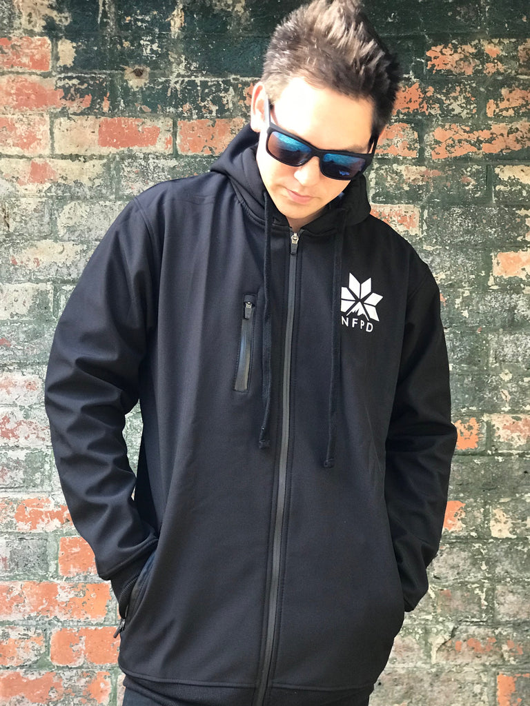 10K WATERPROOF Tall Pines Black Softshell Jacket - Unisex