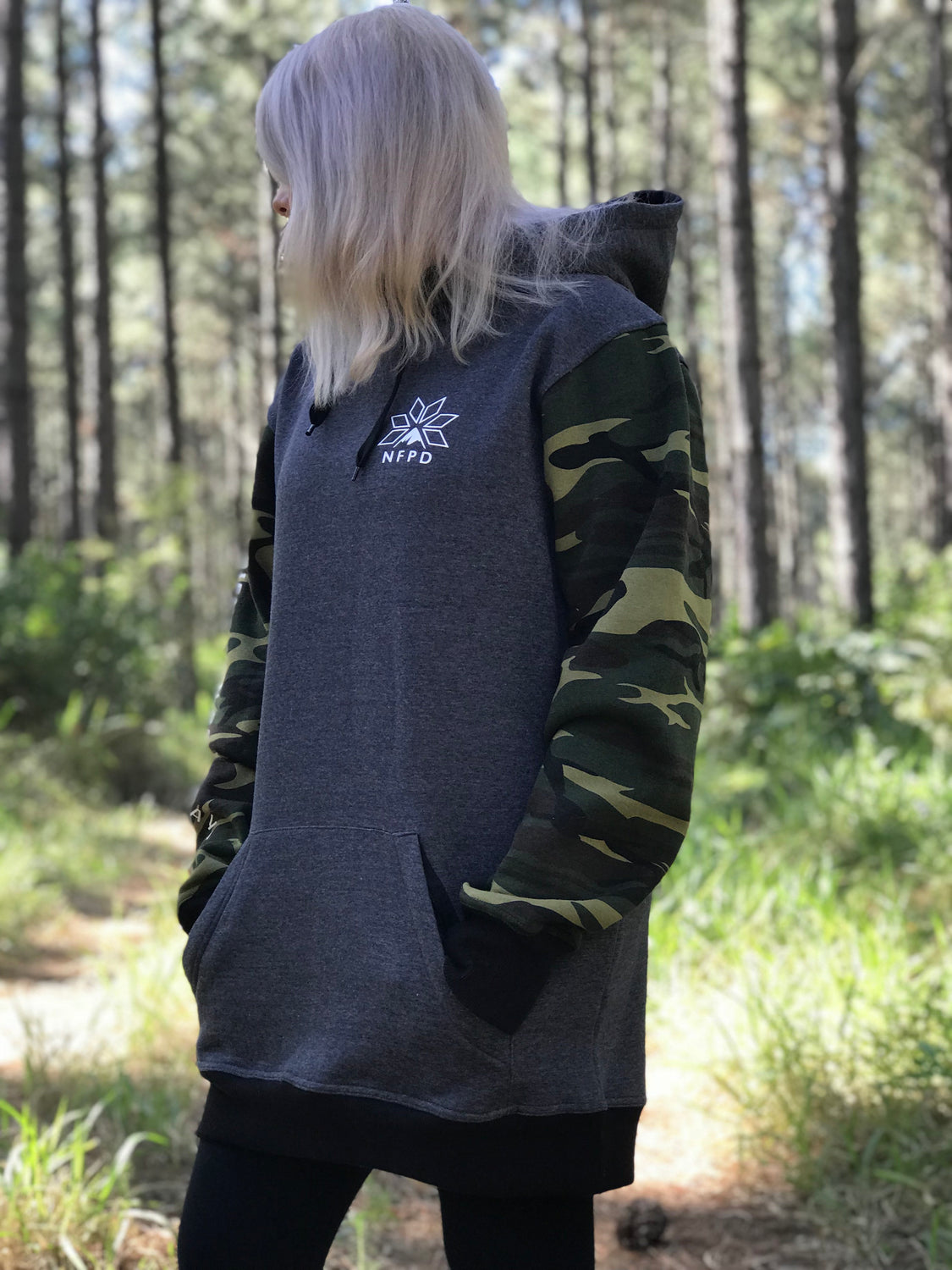 Grey/Camo Tall Hoodie - Unisex (PRE-ORDER SIZES M/L/XL/2XL ONLY)