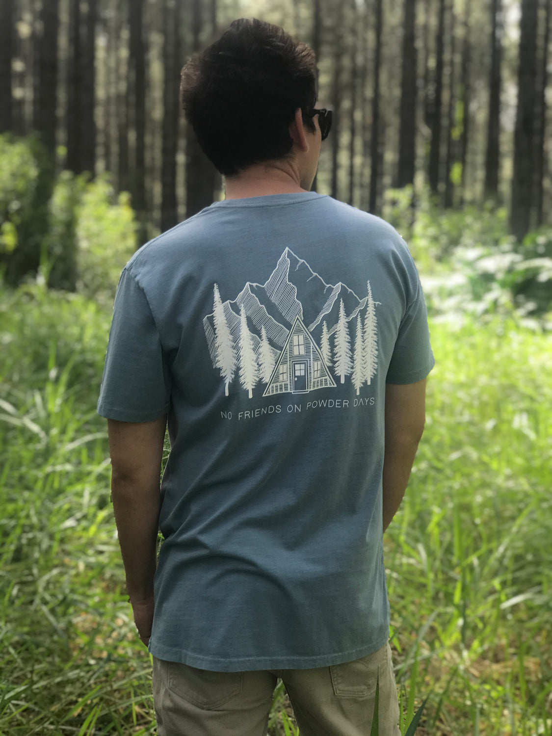 Faded Blue Pines - Tee