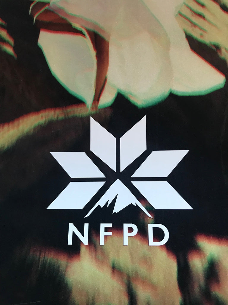 Vinyl Transfer Solid White NFPD Decals 140mm X 125mm