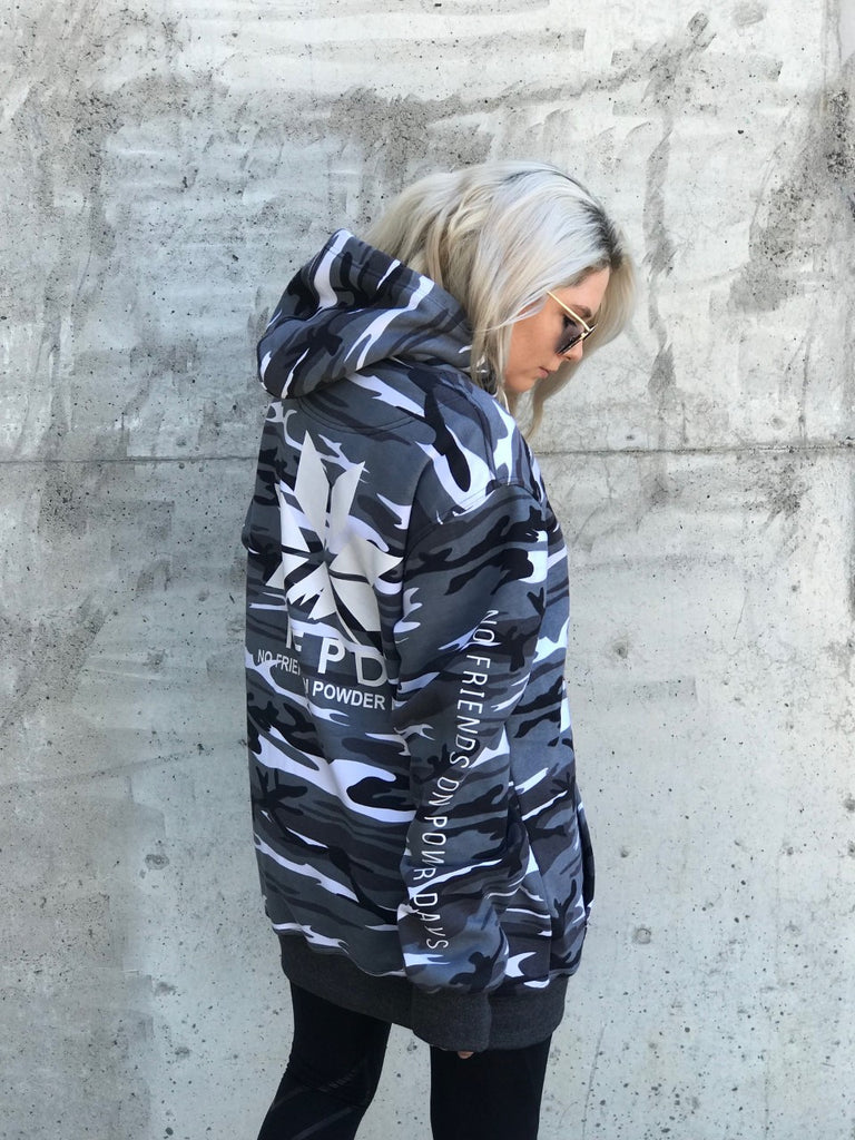 Snow Camo Tall Hoodie - Unisex (PRE-ORDER ONLY)
