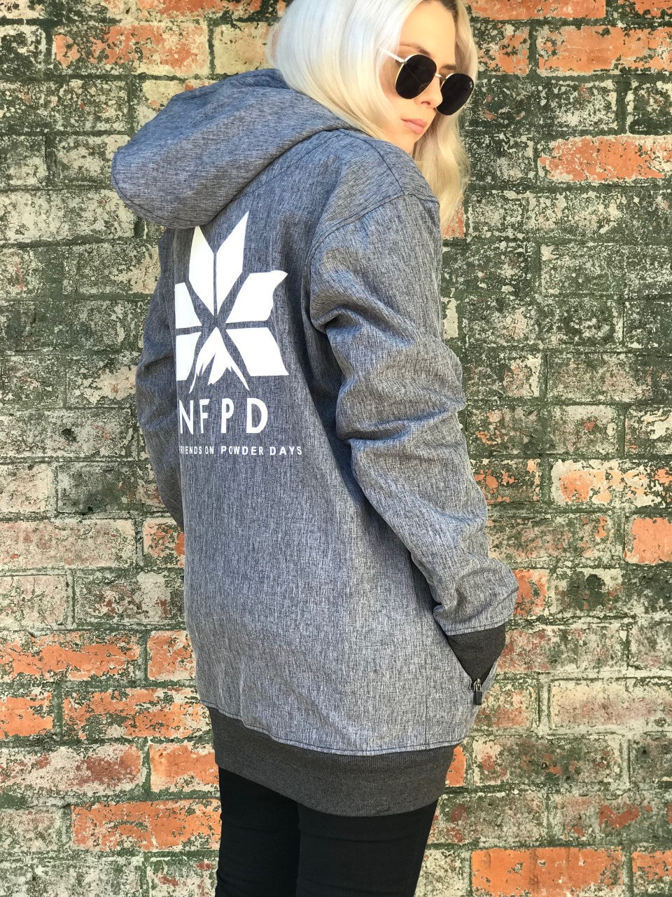 10K WATERPROOF Tall Grey Marle Softshell Hoodie - Unisex