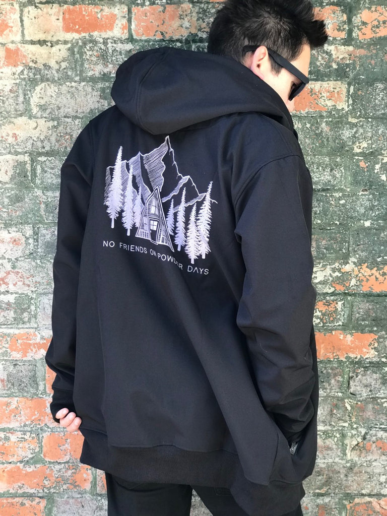 10K WATERPROOF Tall Pines Black Softshell Hoodie - Unisex